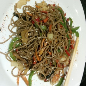 Just had some of the best -and most expensive- yaki soba in my life... at Izanagi, in Lagos. You can find anything you want in this town, but it will be the designer version.